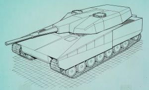 The Strv 2000 L140 design.