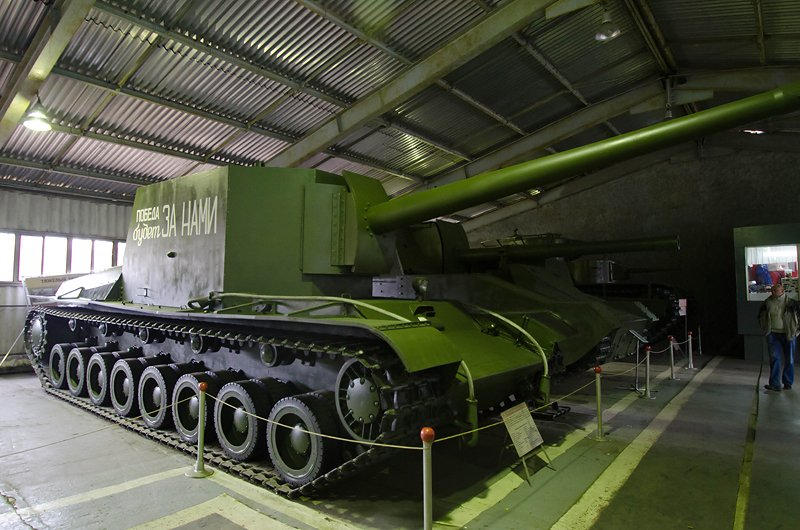 The SU-100Y as preserved at the Kubinka Tank Museum, Russia