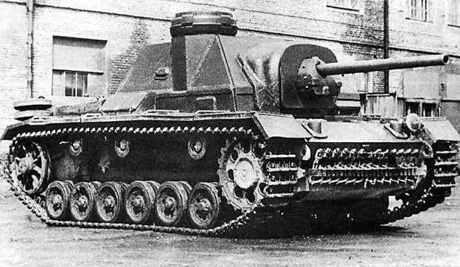 SU-76i Command Vehicle with Panzer III cupola fitted to the roof