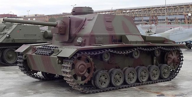 SU-76i Command Tank replica at the Museum of Military Equipment Battle Glory of the Urals, Verkhnyaya Pyshma, Sverdlovsk, Russia