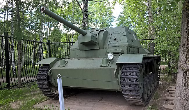 This SU-76i Soviet SPG can be found in the Central Museum of the Great Patriotic War 1941 - 1945, Park Pobedy, Moscow Russia