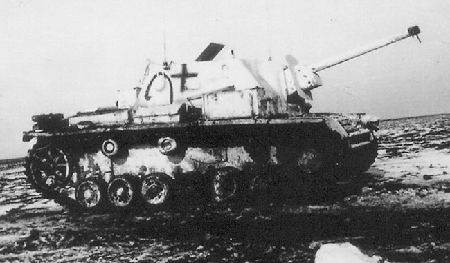 SU-76i SPGs were used on the Eastern Front during the winter of 1943-44