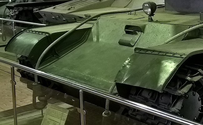 The driver position on Soviet SU-100Y prototype was in the middle of the vehicle