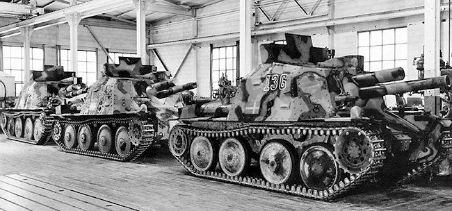 Stormartillerivagn m/43 105mm SPG