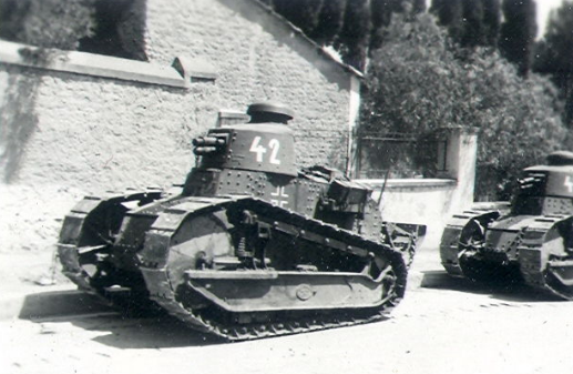 A pair of PzKpfw 17R 730c(f) in Norway.