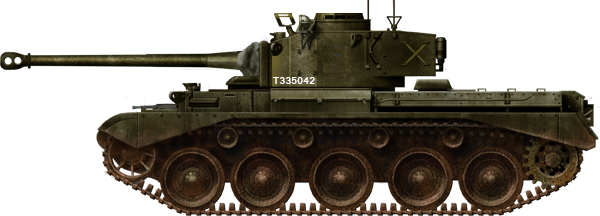 A34 Comet with the birdcage sight