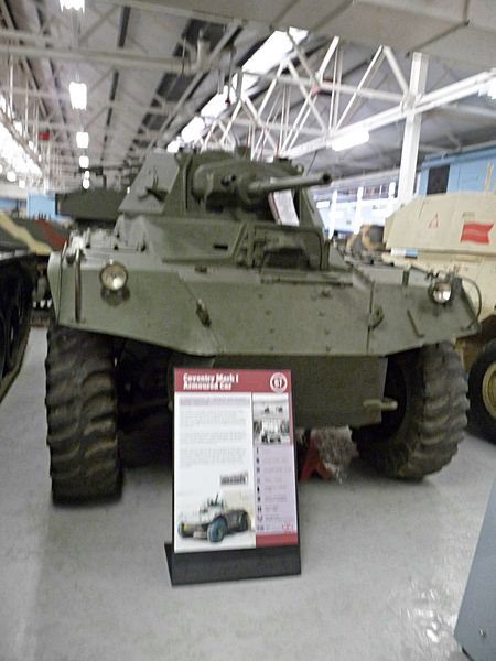 A Coventry armored car preserved at the Bovington Tank Museum
