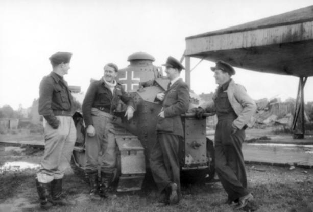 Captured FT abandoned at an aerodrome in Antwerp (Belgium) in 1944