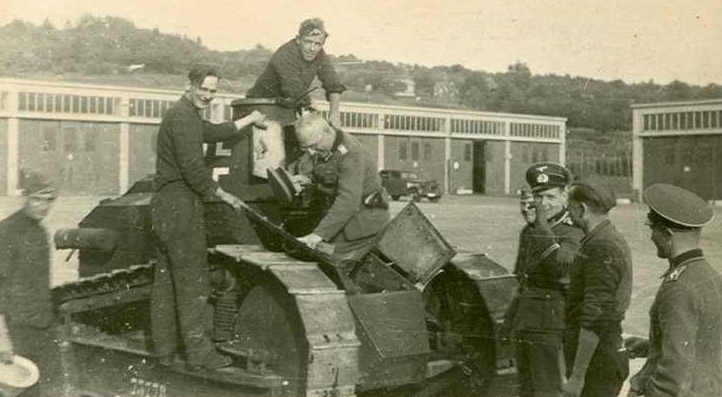 Captured FT at a German training camp.