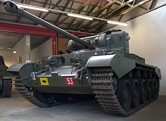 A34 77mm Comet Cruiser Tank Mk.1 type A carrying the markings of the 2nd Fife and Fofar Yeomanry at the German Tank Museum in Munster