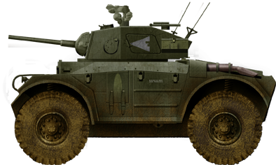 Coventry Armoured Car, early production version on trials, summer 1944.