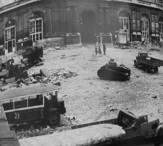 Destroyed German FT at the Luxembourg Palace
