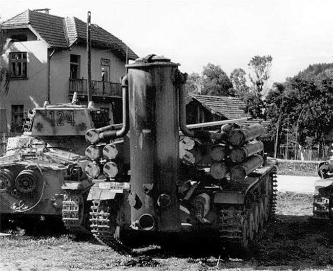 Another view of the same Fahrschulepanzerwagen II.