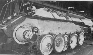 Factory application of Zimmerit on a Panther