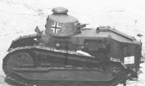 PanzerKampfwagen 18R 730(f) belonging to the Luftwaffe