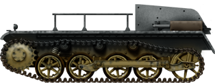 Fahrschulpanzer I petrol powered tank with raised rear for students