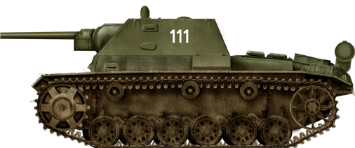 Battle of Kursk SU-76i attached to the 5th Guards.