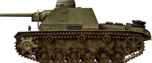 SU-76i command tank variant with Panzer III tank cupola fixed to the roof.