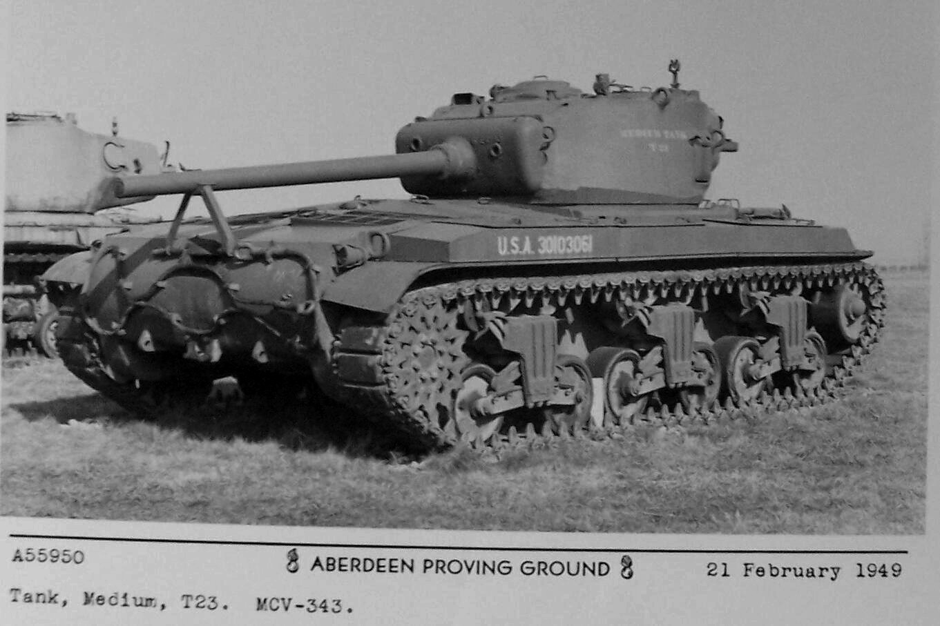 The T23 production tank (1944)