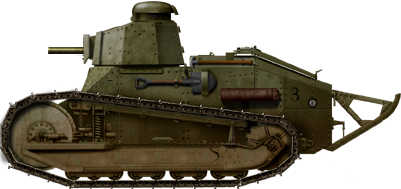 M1917 light tank armed with a .30 M1919 Browning tank machine gun