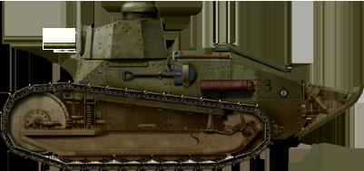 M1917 light tank armed with a .30 M1919 Browning tank machine gun