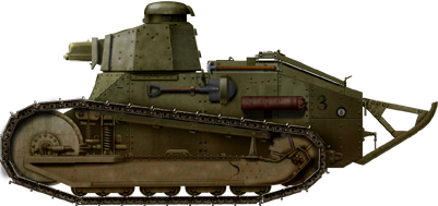 M1917 Light Tank armed with a 37 mm M1916 cannon. It could fire high explosive HE rounds and armor piercing AP rounds.
