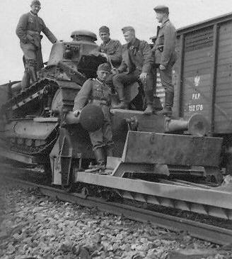 Various captured Polish armored draisines.