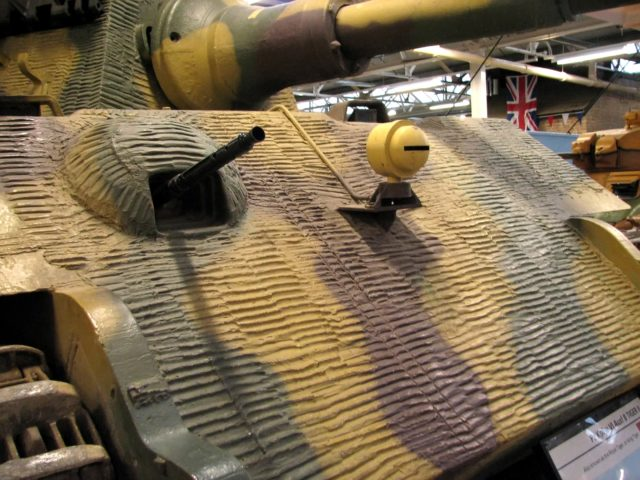 Tiger II at Bovington showing its hull and turret Zimmerit.