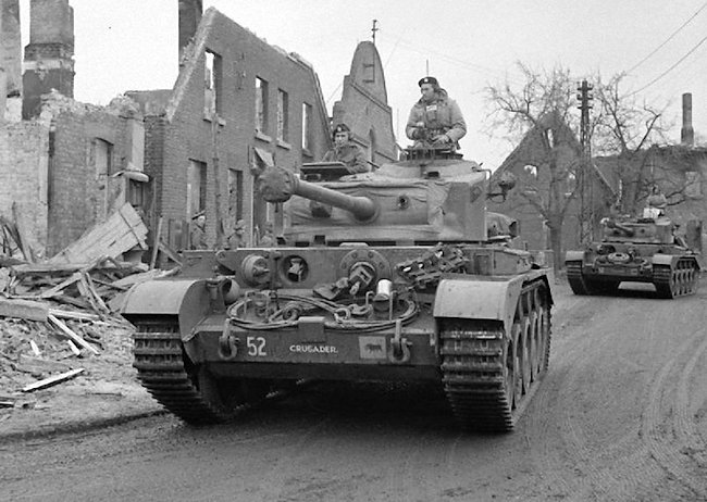 A34 Comet tank of the 3rd Royal Tank Regiment called Crusader in Germany, March 1945