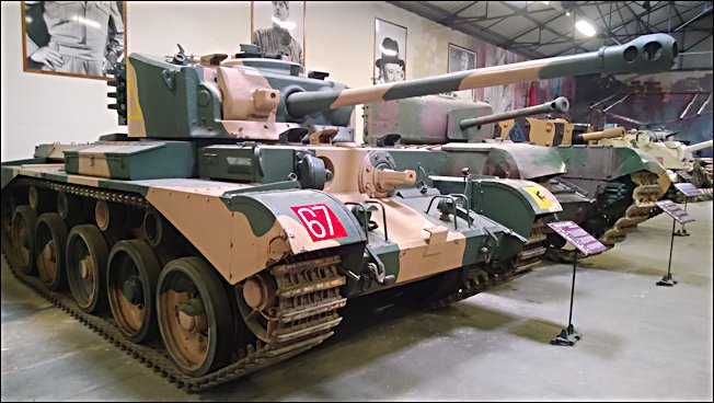 French Army 77mm Comet Tank at the French Tank Museum in Saumur