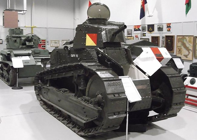 Restored Canadian M1917 6-ton light tank at the Base Borden Military Museum. Ontario, Canada.