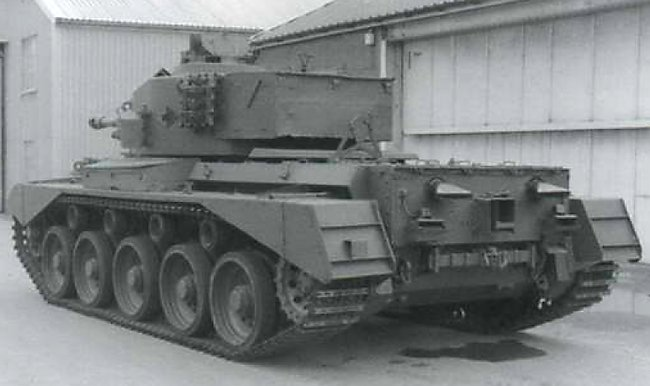 A34 Comet Tank Mk.I Type B with fishtail twin exhausts at the RAC Gunnery School Lulworth after WW2