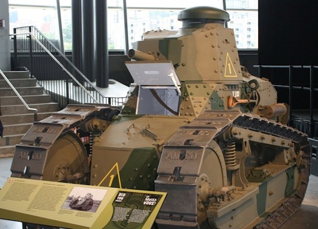 Surviving M1917 6-ton light tank, Canadian War Museum, Ottawa, Canada.