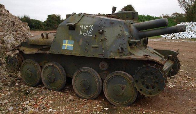 Stormartillerivagn m/43 – Rex and Rod Cadman Collection, UK