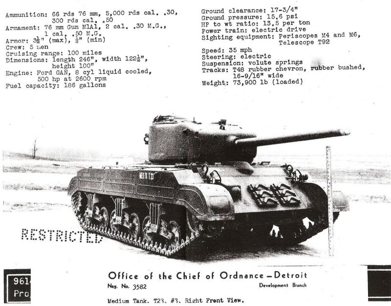 Ordnance Bureau declassified documents about the T23