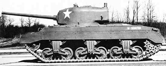 T23 seen from profile, showing its side skirts