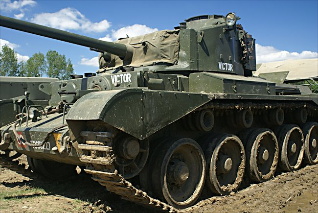 This privately owned British Comet Tank can be seen displayed at military vehicle events in England