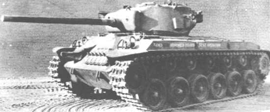 T23E3 torsion bar suspension prototype - Credits: Pershing, A History of the American T20 Medium Tank Series
