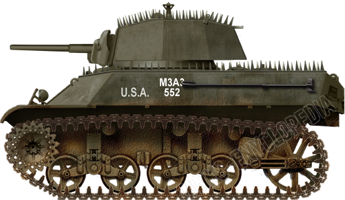 While this M3A3 Stuart looks menacing with its spikes, it was not a viable solution