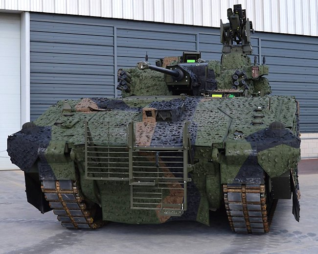 Front view of the Ajax tank