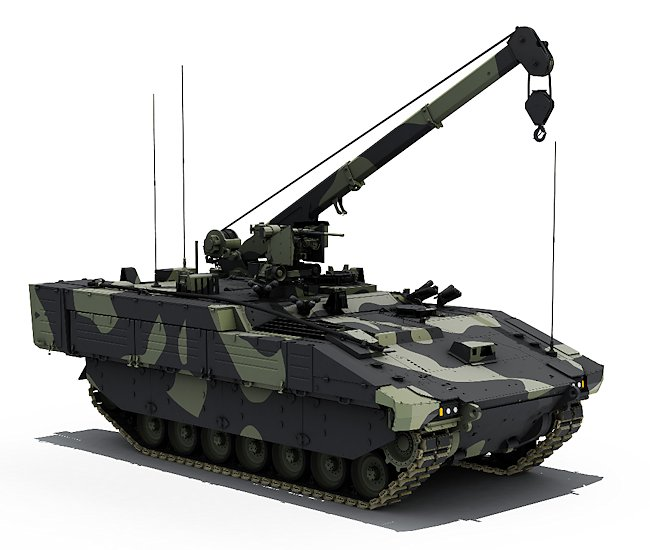 The APOLLO variant will be used to tow battlefield damaged vehicles and lift heavy sub-assemblies.