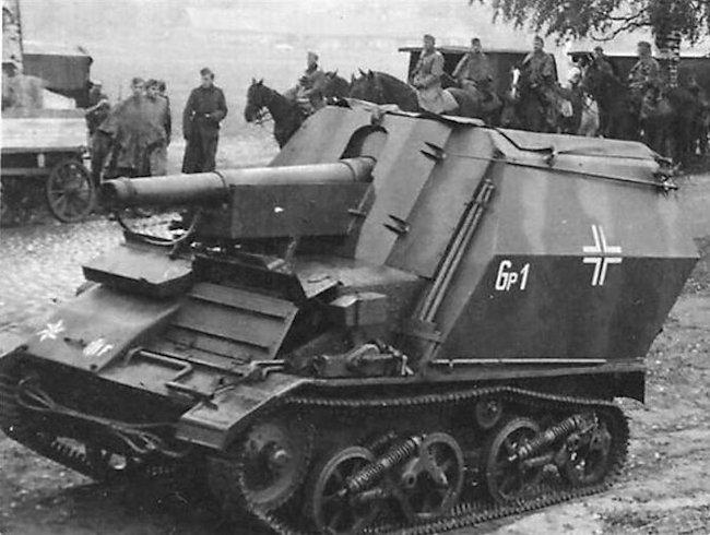 227.Infanterie-Division 10.5cm LeFH 16 auf Geschutzwagen Mk.VI(e) self-propelled artillery gun