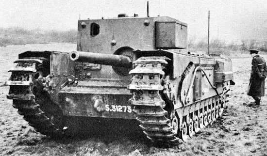 Front view of a Churchill Gun Carrier