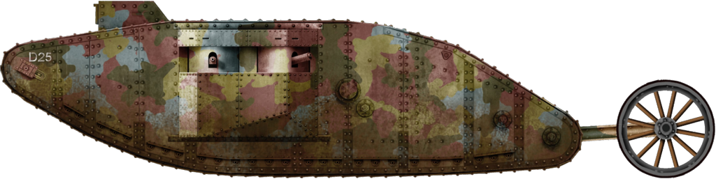 Tank Mark I female in 1917