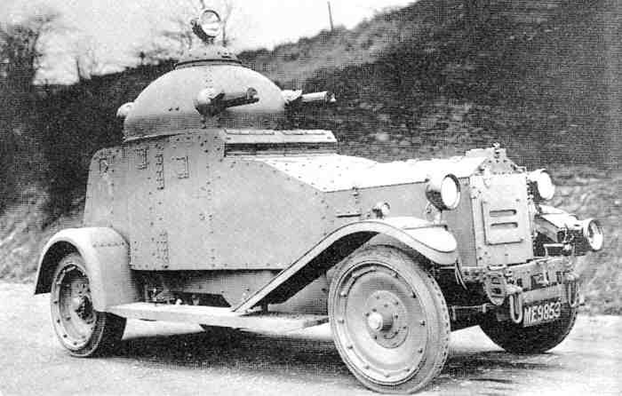 A British Indian pattern IGA-1 armoured car for comparison