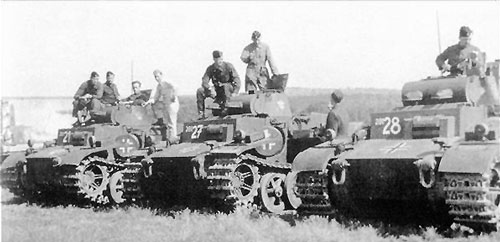 3 Panzer I Fs in the field. Source:- flamesofwar.com
