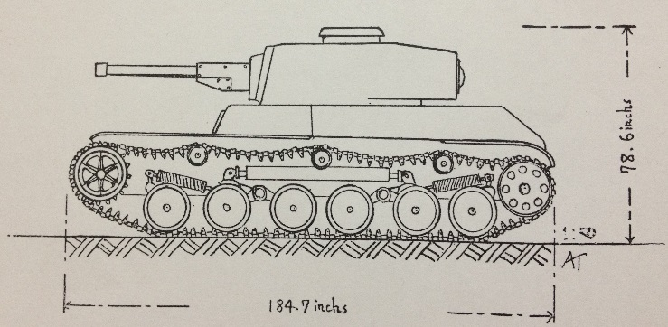 A scale drawing of the Ke-Ho - Source: ftr.wot-news.com