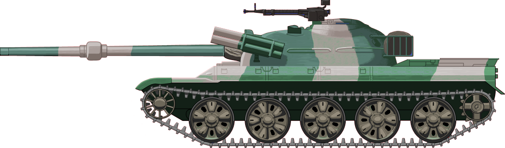 The WZ-122 prototype in its camouflage colors. Notice the missile launchers and the double AA machine-gun - Illustration: Jaroslaw Janas
