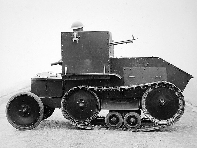 The British inter-war Morris-Martel Tankette prototype