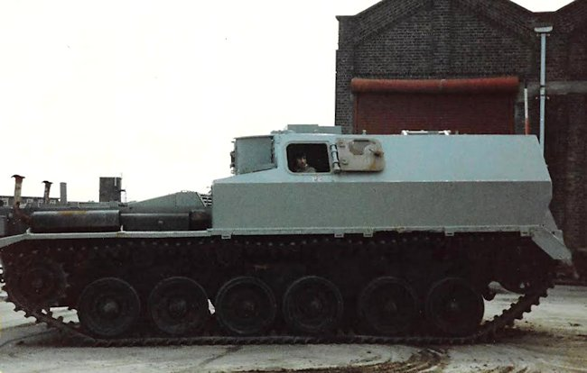 FV3805 being driven at the MOD Shoeburyness